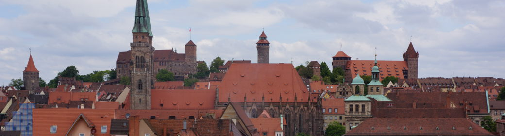 panorama of the imperial castle in Nuremberg